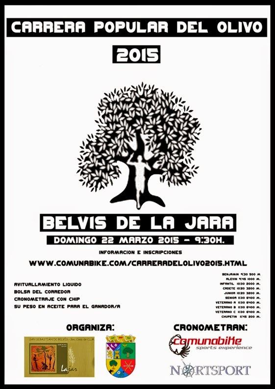 Carrera Popular del Olivo 2015, en Belvís de la Jara