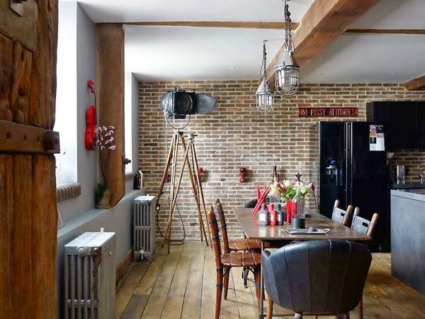 Wnętrza loftu w Londynei