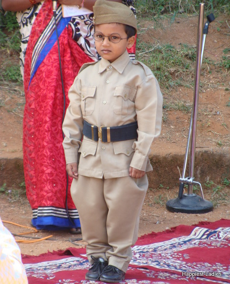 subhashchandra bose kids fancy dress