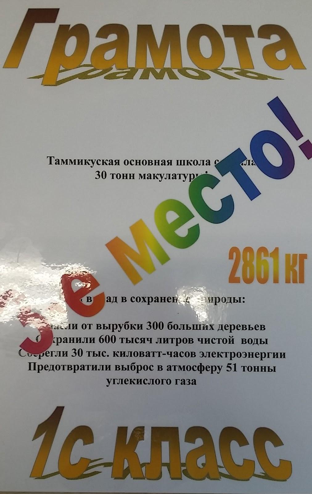 Благодарность за участие в сборе макулатуры шаблон сдать макулатуру москва и московская область