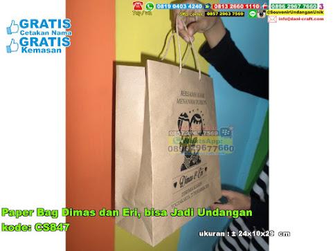 Paper Bag Dimas Dan Eri Bisa Jadi Undangan