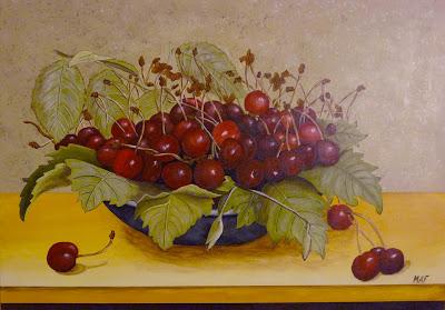 Cerises,Peinture