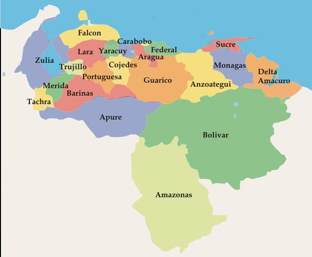 Croquis del mapa de venezuela - Imagui