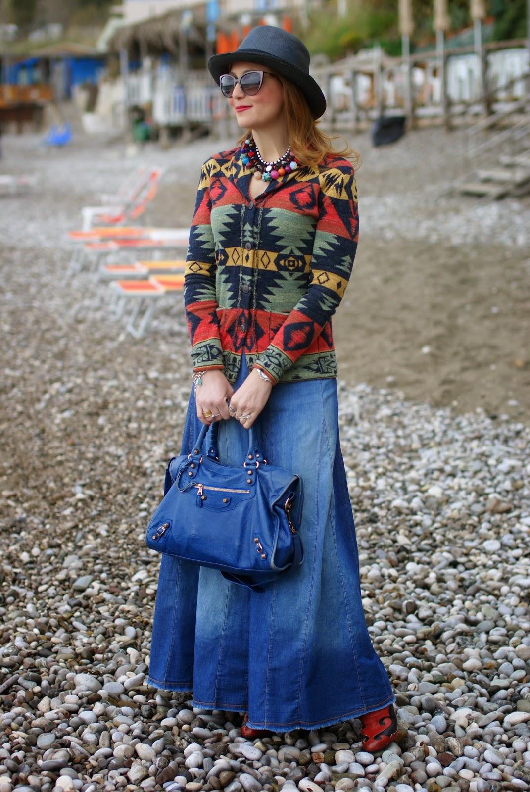 Denim & Supply Ralph Lauren, Denim & Supply shawl cardigan, serape cardigan, Fashion and Cookies, fashion blogger