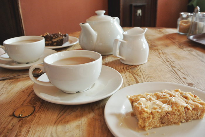 Tea and cake at The Elephant House, Edinburgh