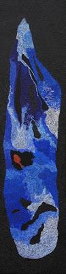 peinture à la caséine et points colorés