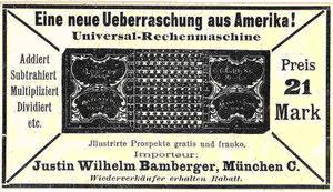 Publicitate într-un ziar german din 1902