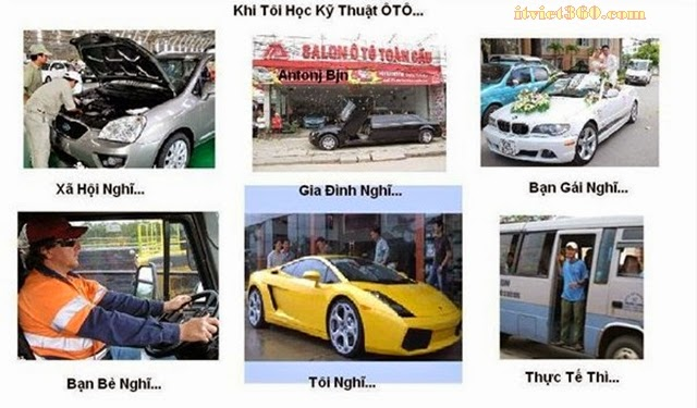 Khi tôi nói tôi học Kỹ thuật ô tô