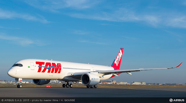 É MAIS QUE VOAR | Veja em fotos - TAM recebe o primeiro Airbus A350 XWB! Avião já se encontra no Brasil!