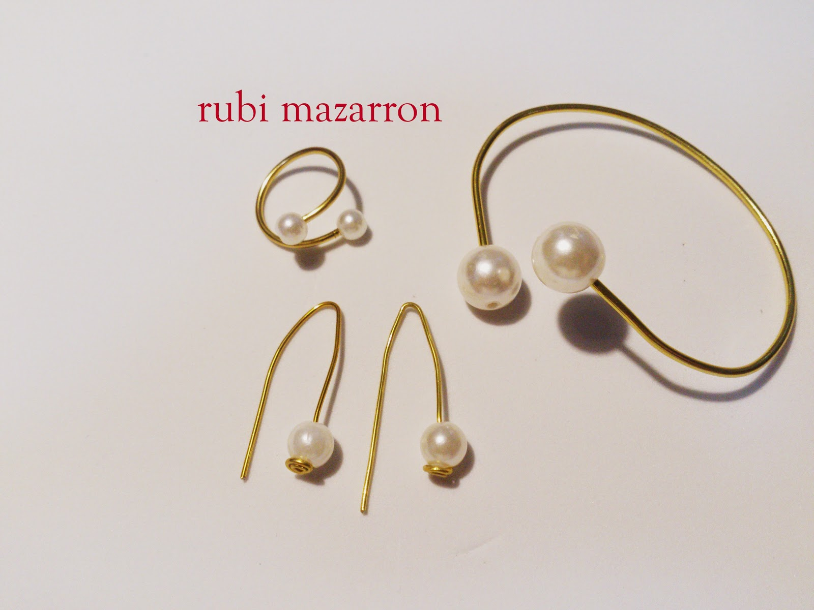 Rubi fotos de mis manualidades anillo y pendientes de - Fotos de pendientes ...