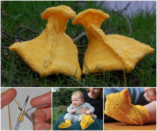 Baby Duck Hat Knitting Pattern : knitnscribble.com: Easter booties for your favorite baby duck