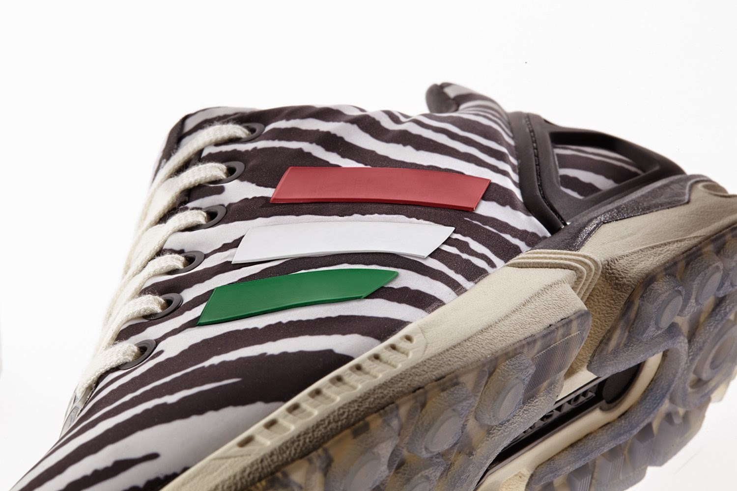 italia independent x adidas zx flux animal