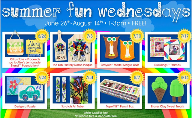 From a c moore and get your kids crafting at summer fun wednesdays