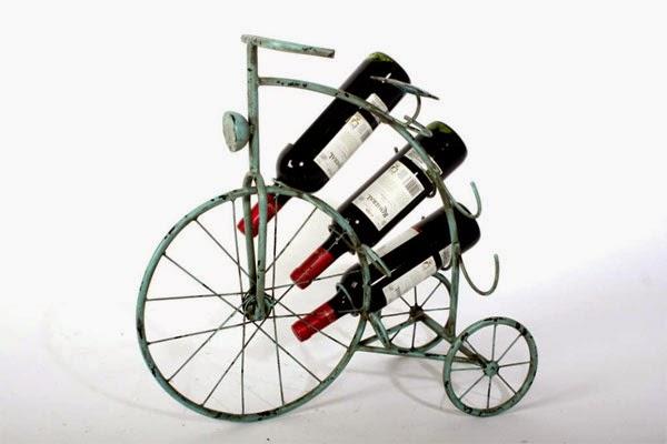 botellero con forma de bicileta