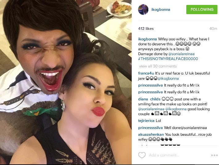Shocking: See What IK Ogbonna's Wife Did To Him (Photo)