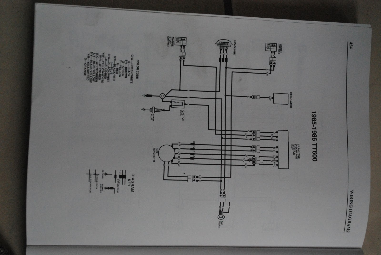 1983 Tt600 Wiring - Help  - Vintage