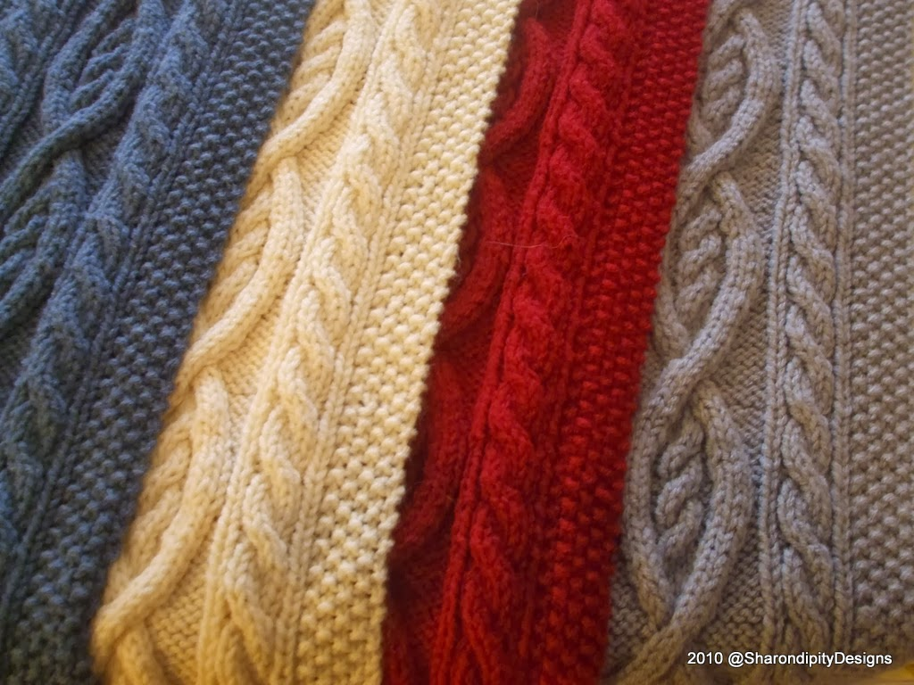 scarf irish tradional cable knit pattern