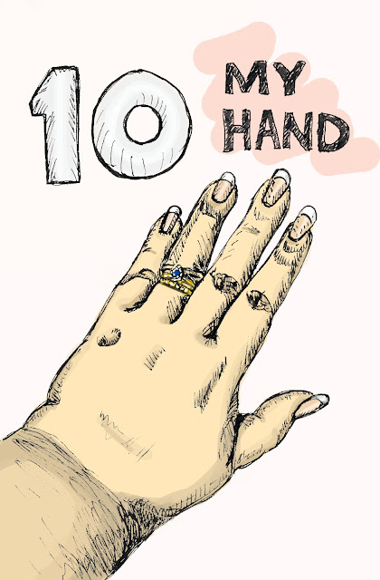 EDM 10 - Draw your hand. My Hand. Pen and Ink with Digital Colour by Ana Tirolese © 2012