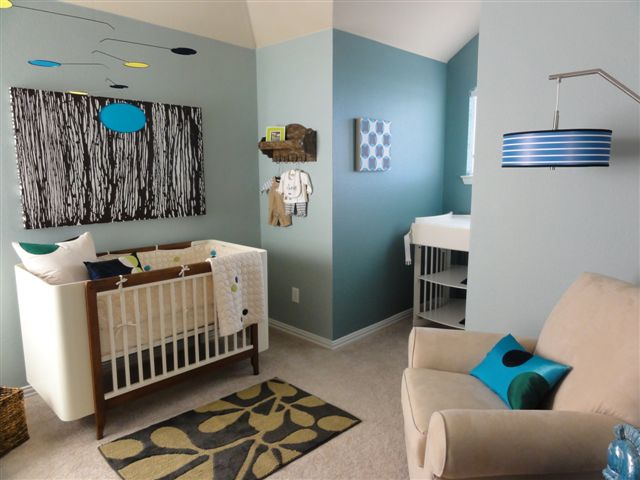 modern style baby room