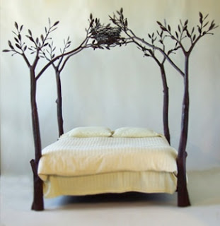 Ma Bicyclette: Design Inspiration | Sticks & Stones - Tree bed by Shawn Lovell