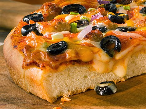 thick crust pizza