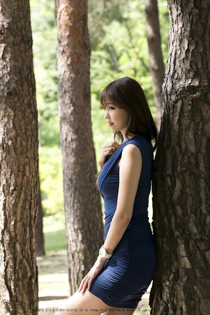 Lee Eun Hye Sexy in Blue Mini Dress