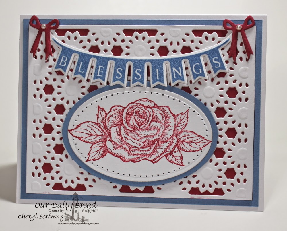 Our Daily Bread Designs, ODBDSLC209, Pennant Swag 1, My Friend, Pennant Swag die, Daisy Chain Background die, CherylQuilts, Designed by Cheryl Scrivens