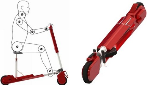 Alpha folding scooter solves your parking problems