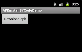 android how to install apk programmatically