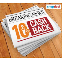 Snapdeal  ; ICICI Bank Cards 10% cashback on Rs. 5000