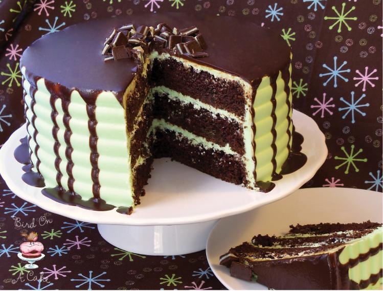 Mint lava cake recipe