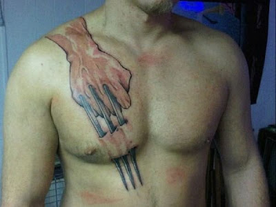Wolverine under skin Tattoo