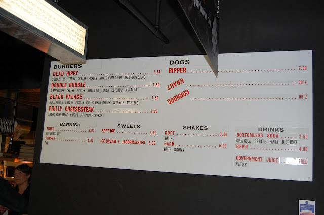 Meat Market Menu - Burgers and Hot Dogs 