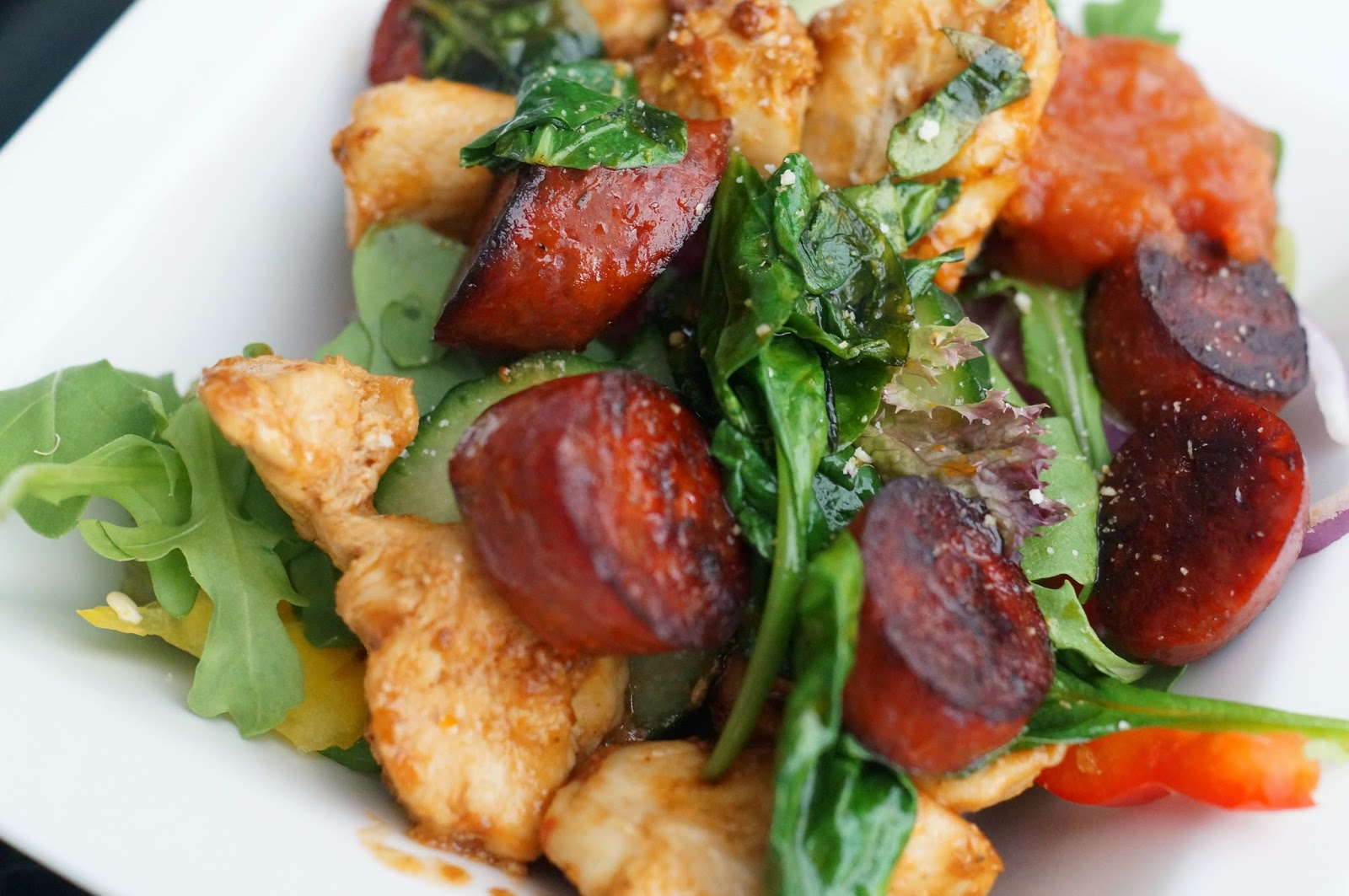 chicken and chorizo salad