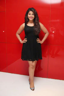 Actress Anjali Latest  Pictures in Short Dress at Kayal Movie Audio Launch  18.jpg