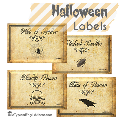 a typical english home printable halloween labels for bottles and jars