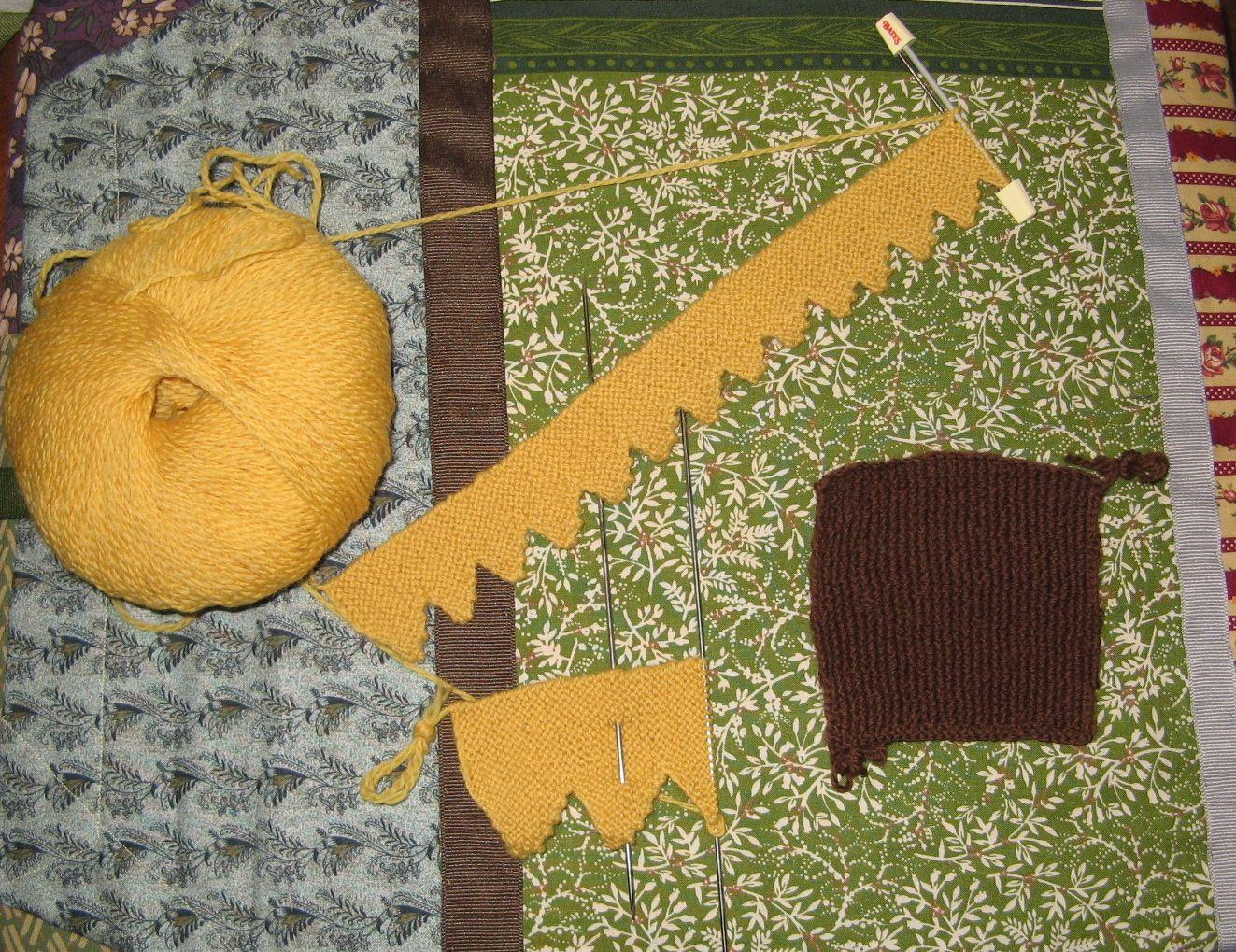 Sunflower Cushion Knitting Pattern : One More Stitch: Sunflower Pincushion