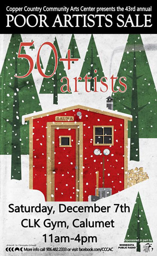 Poor Artists Sale is Dec. 7 at CLK, Calumet