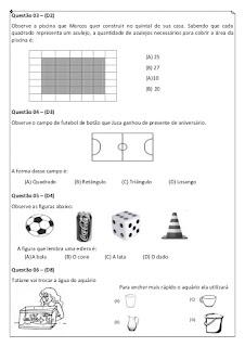 avaliacao diagnostica de matematica 3 ano