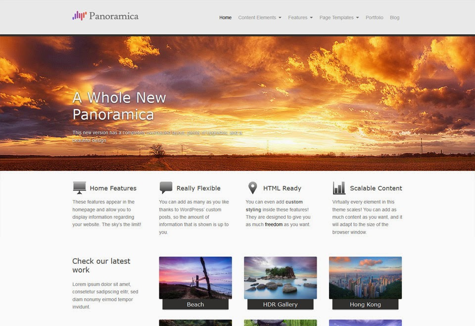 Download Panoramica - Free Wordpress Portfolio Themes 2015 - WP Themes Daddy