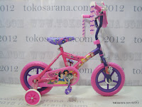 1 Sepeda Anak Disney Princess Pavement Bike 12 Inci