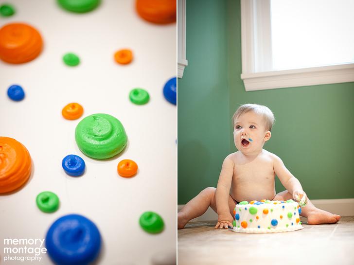 first birthday cake smash session photo