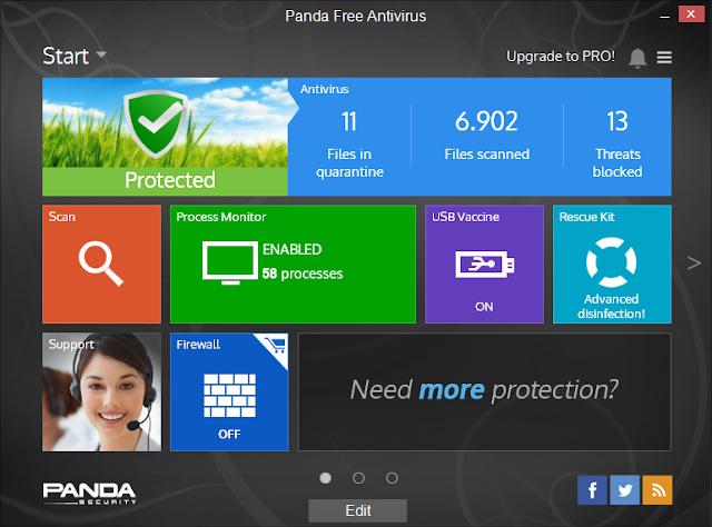 تحميل برنامج مكافحة الفيروسات والبرامج الضارة المجاني Panda Free Antivirus 15.0.1