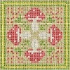 woodland mushroom biscornu cross stitch chart