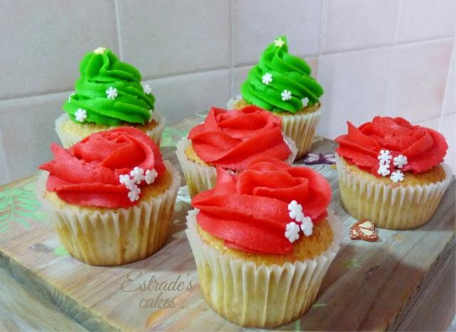 cupcakes de Navidad con buttercream - 1