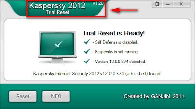 Kaspersky 2012 Trial Reset