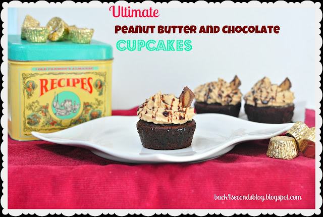 Ultimate Peanut Butter and Chocolate Cupcakes #cupcakes #peanutbutter #chocolate