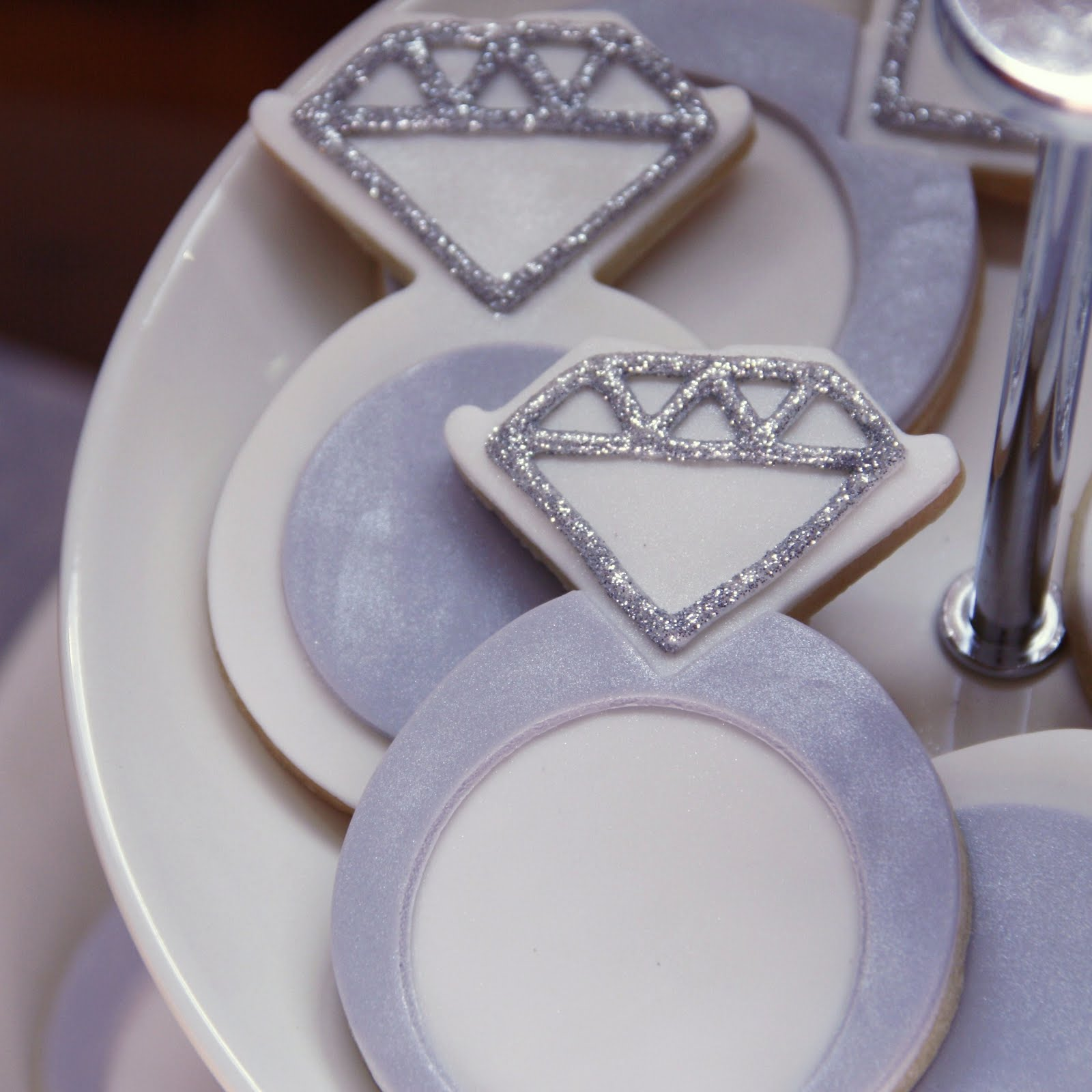 engagement ring cookies cake ideas and designs
