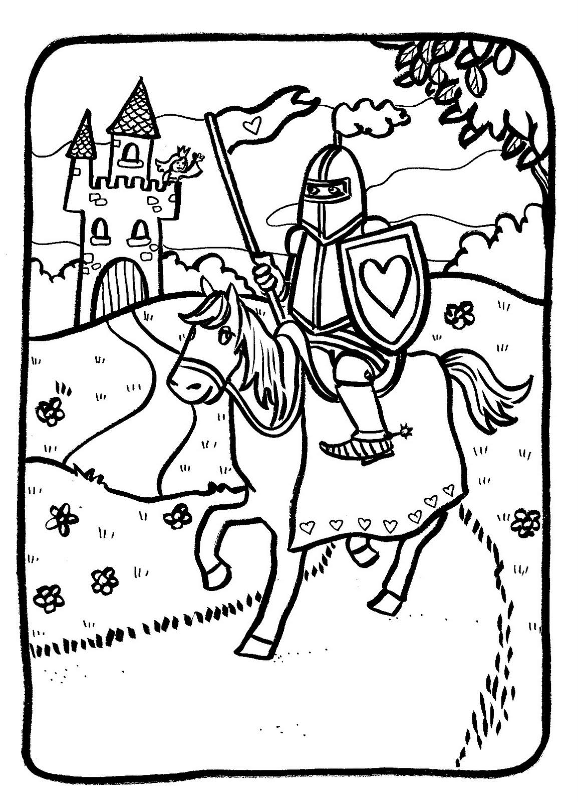 Marion de castillon coloriage du lundi un chevalier - Dessin chevalier ...