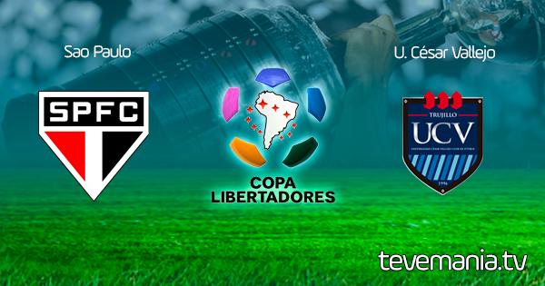 Sao Paulo vs. Cesar Vallejo en Vivo - Copa Libertadores